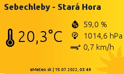 Meteostanica Sebechleby - Stará Hora