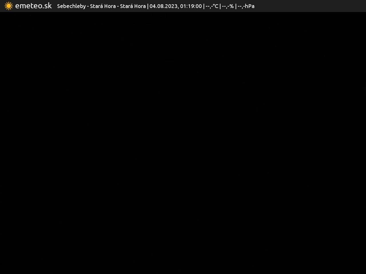 Webkamera Stará Hora